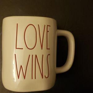 Love Wins Rae Dunn mug.